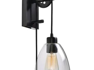 Home Decorators Collection Pulley 1 light Oil Rubbed Bronze Sconce with Bulb
