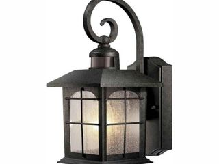 Home Decorators Collection Brimfield 220A 1 light Aged Iron Motion Sensing Outdoor Wall lantern Sconce