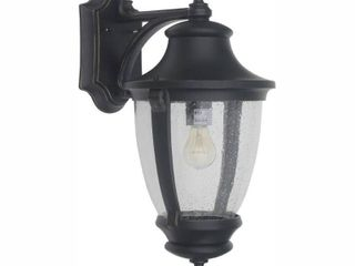 Home Decorators Collection Wilkerson 1 light Black Outdoor Wall lantern Sconce