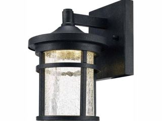 Home Decorators Collection Westbury Collection Aged Iron Outdoor lED Wall lantern Sconce with Crackle Glass