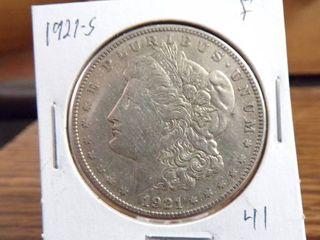 1921 S MORGAN DOllAR   F