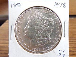 1890 MORGAN DOllAR   AU58