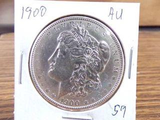 1900 MORGAN DOllAR   AU