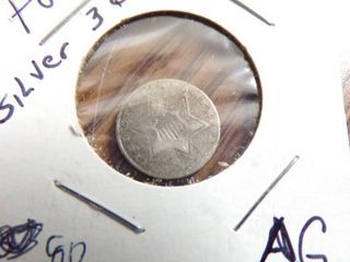 NO DATE THREE CENT SIlVER   AG