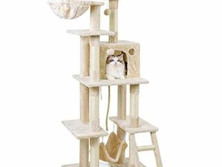 NOT ASSEMBlED RABBITGOO CAT TREE HOUSE WITH