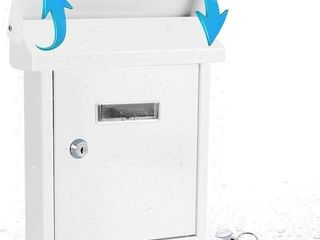 SERENElIFE MODERN WAll MOUNT lOCKABlE MAIlBOX