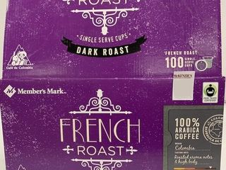 100 PODS CAFE DE COlOMBIA FRENCH DARK ROAST