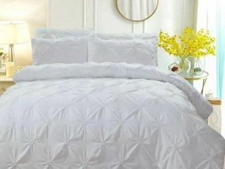 BEDSURE BEDDING SET WITH DECORATIVE RUFFlE