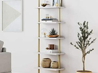 NATHAN JAMES 66001 THEO 5 SHElF lADDER BOOKCASE