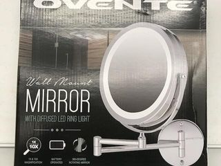 OVENTE WAll MOUNT MIRROR WITH DIFFUSED lED