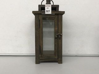 STONEBRIAR COllECTION WOODEN CANDlE lANTERN