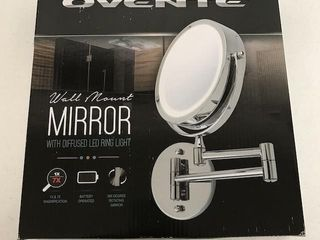 OVENTE WAll MOUNT MIRROR WITH DIFFUSED
