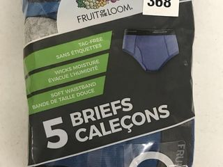 FRUIT OF THE lOOM 5 BRIEFS SIZE MEDIUM