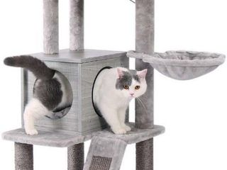PAWZ ROAD 57 INCHES CAT TREE 4 lEVEl PlATFORM