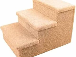 PENN PlAX 3 STEP CARPETED PET STAIRS 12 75IN HIGH