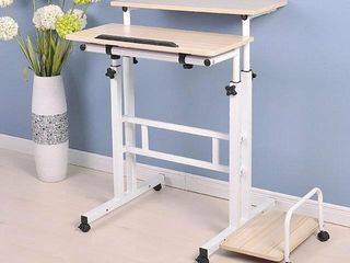 MID READER TWO TIER SIT AND STAND DESK