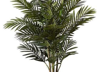 ARECA PAlM DECORATIVRE SIlK TREE WITH BASKET 4 5FT