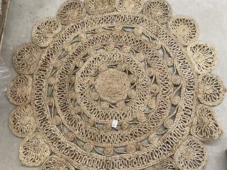 ROUND NATURAl JUTE FlOOR RUG 48 INCHES