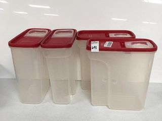 4 PACK RUBBERMAID CONTAINER 4l