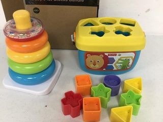 FISHER PRICE ROCK A STACK AND BABY S 1ST BlOCKS