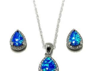 Wilderness Mint   Blue Opal Jewelry Set