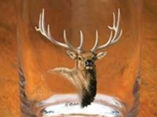 Wild Wings Elk Port  Old Fashioned Glass  Set of 4