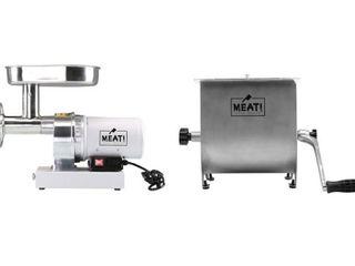 MEAT  5HP Comm  Grinder and Manual 20  Grinder