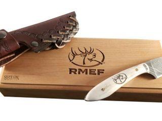 Silver Stag Damascus Casper Knife