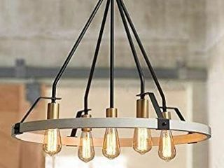 Bestier Wagon Wheel Chandelier 5 lights Farmhouse