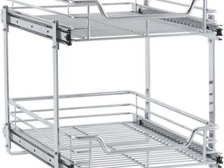 2 Tier Sliding Organizer  Dual Pull Out Cabinet