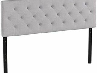 lucid Mid Rise Upholstered Headboard   Adjustable