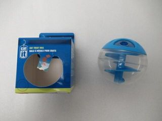 Used  Catit Treat Ball  Blue