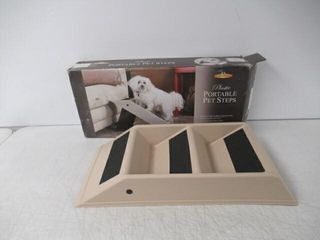 As Is  Etna Plastic Folding Pet Steps
