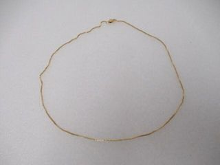 14K Gold Box Chain Necklace with lobster Clasp