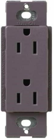 15A Electrical Socket Duplex Receptacle  Plum