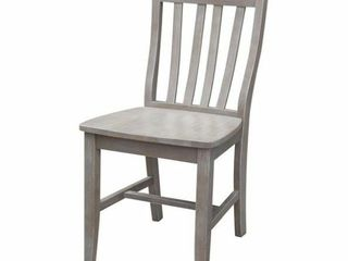 Cafe Dining Chair in Washed Gray Taupe   Set of