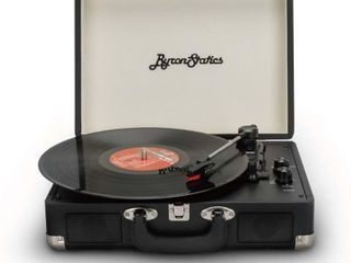 Byron Statics Vinyl Record Player  3 Speed