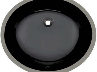 UPM Black Undermount Porcelain Bathroom Sink  Sink