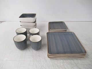 Stone   lain 16 Piece Porcelain Dinnerware Set