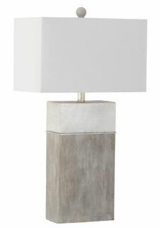 Mariana Home Jordan Table lamp  Gray Silver