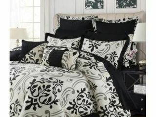 Tribeca living Prague 12 Pc  Cotton King Comforter