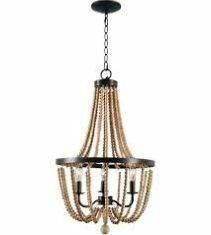 Regas 3 light Wood Bead Chandelier