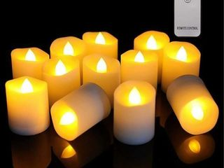 As Is  12 Pk Flameless Candle  Ivory Wax  Warm