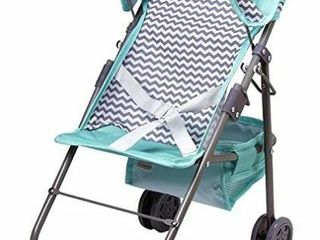 Adora Zig Zag Stroller in Teal Pattern with Medium