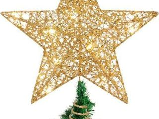STOBOK Christmas Tree Star Topper Golden Xmas Tree
