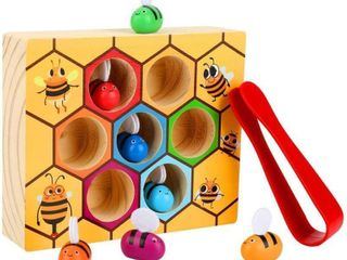 Kunmark Toddler Bee Hive Preschool Wooden Toys Bee