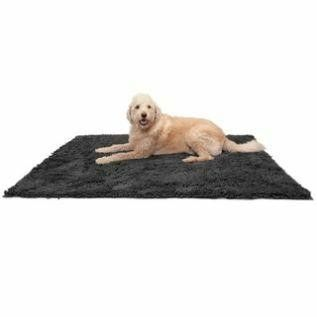 FurHaven Muddy Paws Towel   Shammy Dog Mat  Gray