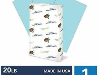 Hammermill Colored Paper  20 lb Blue Printer