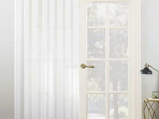 No  918 Emily Extra Wide Sheer Voile Sliding Patio