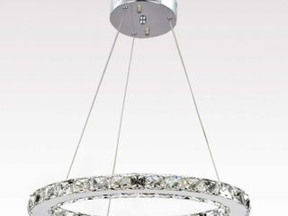 Ganeed Crystal Glass Chandelier  Dia 11 8  6500K